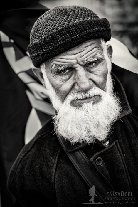 A familiar face for the locals of Eminonue distrcit of Istanbul who is selling flags for more then 20 years.